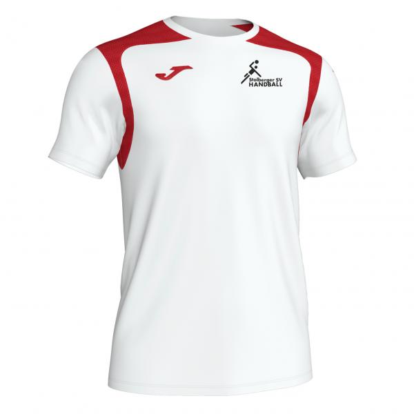 T-Shirt weiß/rot